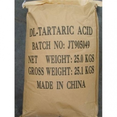 CAS Number 133-37-9, DL-Tartaric Acid 99.9% suppliers